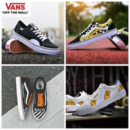 Wholesale new fashion fabrics - 2018 new Vans Old Skool Running Shoes off zapatillas de deporte Designer Fashion Casual Famous Brand Canvas Sneakers white Trainers zapatos