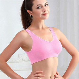 154eb0d465 Women Girls Sports Bra Seamless Wire Free Padded Crop Top Fitness Yoga  Running Vest Tank Comfort Yoga Sport Bra Plus Size Female. Supplier  ahaheng