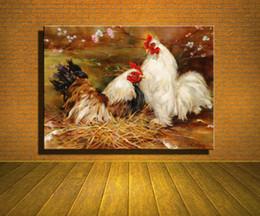 Wholesale Plum Blossom Canvas Art - Original New Home Decor Art HD Print Animal Oil Painting Wall Decor Art on Canvas, XM215,The Chicken,Plum Blossom 4size Unframed