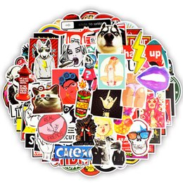 Wholesale funny countries - 100PCS Funny Punk Anime JDM Adult Sticker Creative Stickers DIY Laptop Luggage Motorcycle Helmet Car Guitar Waterproof Sunscreen Stickers