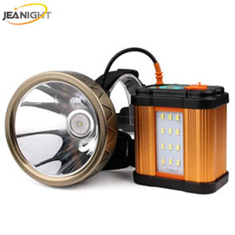 Wholesale Led Tripod - JEANIGHT T18 20000mAh Led Headlamp 1800metrs Long Distance Head Lamp Recgargeable Headlight Lantern + Usb Light+Tripod