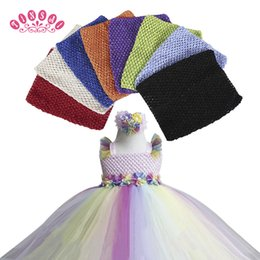 Wholesale Wide Crochet Elastic - 9 inch Chest children 20*23CM 30 Color Elastic Wrapped Chest Knit Girl Crochet Headband Tutu Tube Tops Wide 2017 DIY Skirt Dress