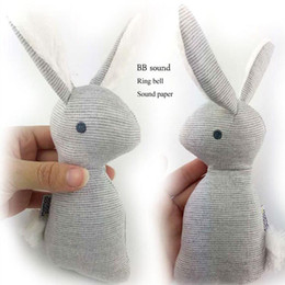 Wholesale Cheap Stuffed Toys - HOT super cheap rattle but HIgh quality Mamas Papas baby rattle infant BB toys Lovely baby Stuffed rabbit BB toy CX881651