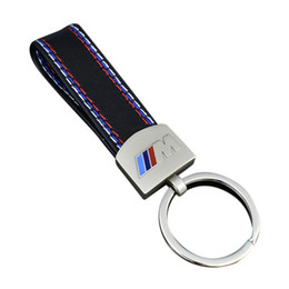 boîtier de clé à distance de voiture toyota Promotion Fashoin Métal + Porte-clés En Cuir De Voiture Porte-clés Porte-clés Pour BMW M Tech M Sport M3 X3 X3 E46 E39