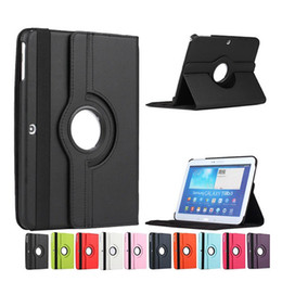 Wholesale Cover For Galaxy Tab3 - 360 Rotating Tablet Case For Samsung Galaxy Tab 4 10.1 T530 T531 T535 Tablets PU Leather Smart Stand Cases Cover