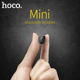 Wholesale Best Mini Headphones - hoco best original earbuds hidden invisible earpiece mini wireless Handsfree bluetooth earphone headphone With micro for iphone