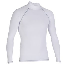 Wholesale Uv Protection Shirts - Wetsuit Diving sun protection Diving Long Sleeve Swimsuit High Quality Lycra Rash guards For Men Wetsuit S-4XL surfing shirt short sleeve UV