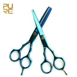 cuts for thin hair Coupons - PURC hair scissors for home use Berbar hair scissors 5.5 inch cutting scissor and thinning scissor set free shipping