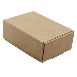 Caja de embalaje de galletas online-9 * 6.5 * 3 cm Caja de papel Kraft Caja de embalaje de regalo DIY Evento de boda Favor Joyería de caramelo Galleta Chocolate Hecho a mano Caja de embalaje de jabón freeshipping