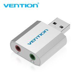 Vention мини внешний USB звуковая карта USB до 3,5 мм адаптер для наушников аудио карты для микрофона динамик ноутбук PS4 компьютер Звуковая карта от Поставщики бить наушники