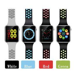 Paquetes gps online-Reloj inteligente M3 Reloj inteligente con pantalla táctil LCD de 1,54 pulgadas para reloj Android Teléfono inteligente inteligente SIM con paquete minorista