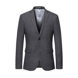 2019 gestreifte blazer für männer Herrenmode Slim Suit One Zwei Knöpfe Herren Striped Suit Blazer XZ021 günstig gestreifte blazer für männer
