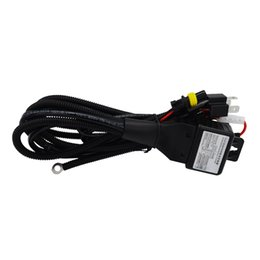 Wholesale Xenon For Car - High Quality 35W 55W 12V H4-3 Bi-Xenon Hi Lo Headlight Wiring Harness Controllor HID Harness Cable Relay for Car Auto Headlamp