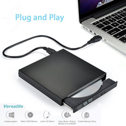 Azionamento ottico usb online-External DVD Optical Drive USB 2.0 Lettore DVD-ROM Lettore CD / DVD-RW Burner Reader Writer Recorder Portatil per Windows Mobile PC