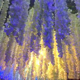 2019 petali di fiori di colore Vendite calde Ghirlanda artificiale Seta Ortensia Fiori da sposa Fiore ad alta densità Petal String Decorazioni di nozze Rifornimenti del partito Colore della miscela petali di fiori di colore economici