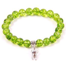 NCRHGL Heißer Verkauf 8mm Perlen Armbänder Olive Kristall Naturstein Armband ZAHN Charme Perlen Armband Für Frauen Männer In Schmuck von Fabrikanten