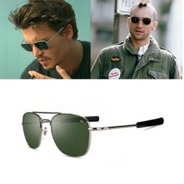 Lunettes de soleil classiques Hommes Marque Designer AO Lunettes de soleil  pour homme American Army Optical Glass Lens oculos de sol masculino fec5c6e34880