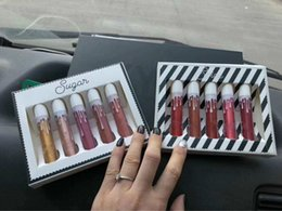 Wholesale Spices Set - Good price 5 color Spice Lip Set Sugar Lipstick Set packed sell Christmas Lip gloss Set Christmas Lipstick kit Cosmetics