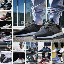 Wholesale Brown Black White - Ultra Boost 2.0 3.0 4.0 UltraBoost mens running shoes sneakers womens designer Sports UB CNY Dog Snowflake Core Triple Black All White Grey