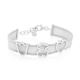 Wholesale Product Width - 10mm width net hollow out bangel bracelet with titanium steel bear hamsa love heart charm jewelry new product bangle bracelet