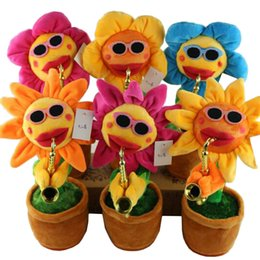 Wholesale Dancing Plush - Funny Sunflower Doll Plush Display Decor Plush Sunflower Toy Dancing
