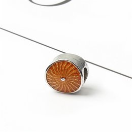 Unico colore arancione online-Fashion Charms Jewelry Findings And Components Branello allentato color arancio unico per bracciale Pandora stile europeo