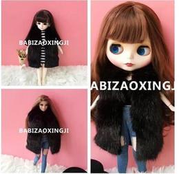 Wholesale Dolls Clothes Bjd - 1 6 bjd blyth doll clothes Accessories Fashion imitation fur vest for barbie Doll blyth clothing 30cm doll accessory