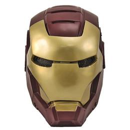 Maschera di halloween del viso del ferro online-Full Face Mask di Paintball Wire Mesh Iron Man 2 all'ingrosso e al dettaglio spedizione gratuita