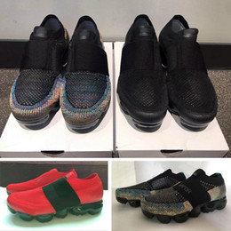 Wholesale Knitted Elastic Band - new Elastic band multi vapormax fashion designer running shoes black red mens womens Vapormaxes trainers moc sneakers knit sports Size36-45