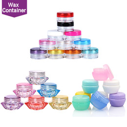 Wholesale Case Container - Plastic Wax Containers Jar Box Cases 5ml Capacity Wax Holder container Food Grade Wax Tools Storage For Silicone Pipes Smoking Glass Bongs
