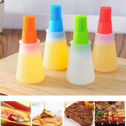 safety pens Coupons - Colorful Silicone Oil Brush Pastry Brush Basting Brushes Baking Liquid Oil Pen Cake Butter Bread BBQ Tools Safety Kitchen