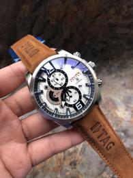 e7ffcfc1069 Nova Alta qualidade Top Marca de Luxo relógio dos homens TAG Movimento Automático  relógios Mecânicos pulseira de Couro Homens esportes relógios de Pulso AAA  ...