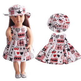 Wholesale girls fitted skirts - Fashion Doll Dress Fit For 18 Inch American Girl Doll Skirt Clothes Toys Accessories Dresses Free Shipment