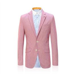 ternos slim fit suit Promo Codes - Custom Made Pink Shawl Lapel Suits2Pieces(Jacket+Pants+Tie) Ternos Masculinos Slim Fit Wedding Suits Grooms Tuxedos Blazer