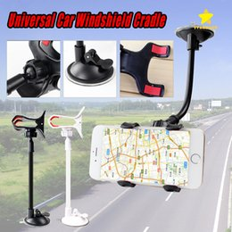 Wholesale Universal Windshield Phone Mount - Universal Car Phone Holder Windshield Cradle Phone Clip Mount Long Arm 360 Degree Rotation Desktop Holder for Cell phone with Retail Box