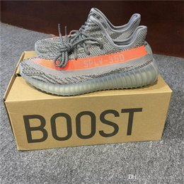 Wholesale Wholesale Flat Boots - ORIGINALS Y BOOST 350 V2 KANYE WEST STEGRY BELUGA SOLRED ROUSOL Grey Orange BB1826 RUNNING SHOES SPLY-350 MENS SNEAKERS SPORTS SHOES