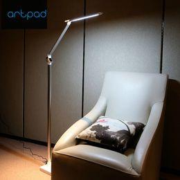 lâmpadas de chão para piano Desconto Artpad 12 W Brilho Nórdico LEVOU Lâmpada de Assoalho 5 Nível de Ajuste de Toque Dimmer Piano Piso Da Lâmpada Interior Para Quarto Parlor Levou