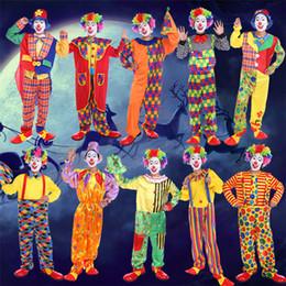 2019 trajes engraçados do circo Engraçado Palhaço Trajes Cospaly Clown Roupas Terno Traje de Circo Das Mulheres Dos Homens Traje Coringa para Festa de Natal Halloween Cosplay Prop Trajes trajes engraçados do circo barato