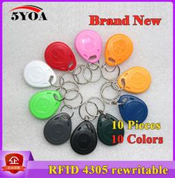10 pièces EM4305 T5577 Duplicator Badge Copy 125khz Étiquette RFID llavero Porta Chave Carte Autocollant Clé Fob Token Ring Proximité ? partir de fabricateur