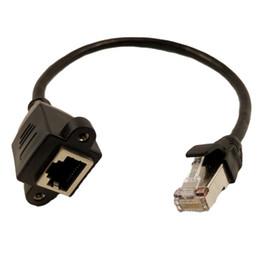 2019 крепление rj45 Marsnaska New High Quality 30cm/1M RJ45 Cable Male to Female Screw Panel Mount Ethernet LAN Network Extension Cable дешево крепление rj45