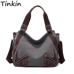 Wholesale quality saddles - Tinkin Canvas Women Shoulder Bags Vintage Femal Handbag Tote Mori Woman Crossbody Bag High Quality Daily Uses Hobos Bag