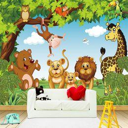 Papéis de parede para meninas on-line-Animação dos desenhos animados Crianças quarto mural da parede para o menino e meninas papel de parede quarto mural 3D papel de parede personalizado qualquer tamanho