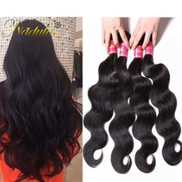 Wholesale bodywave hair weave - Nadula Brazilian Bodywave Human Hair Bundles 100% Human Hair Extensions Virgin Hair 5Piece Can Mix Wholesale Cheap Peruvian Malaysian Indian