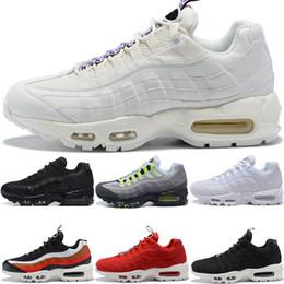 pretty nice bfa1e 946bb Nouveau Hommes Designer 95 Chaussures De Course OG Grape Neon TT Noir Rouge  95s Hommes Ce Que Les Baskets Sports Sneakers Taille 7-11 chaussures en  néon ...