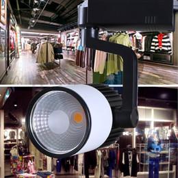Bridgelux führte 45 mil online-45 mil Bridgelux Chips 30 Watt COB Led Tracking Track lampe AC85-265V led schienenlicht bekleidungsgeschäft dekoration licht