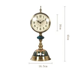Wholesale Vintage Metal Tables - Decorative Retro Table Desktop Quartz Clocks Living Room Bedroom Vintage Alarm Clock Nostalgic Ornaments Table Desktop Watches
