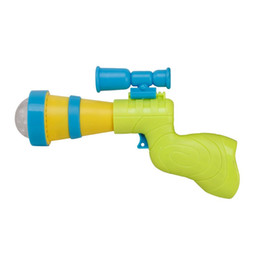 Wholesale toy bubble guns - Best Sellers Electric Children Flash Of Light Acousto Optic Music Toy With Projection Aiming Rule Sight Plastic Toys 3 2yy W