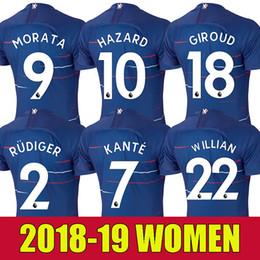 Women 18 19 soccer jersey GIROUD MORATA HAZARD KANTE football shirt RUDIGER  Camiseta WILLIAN DAVID LUIZ 2018 2019 BAKAYOKO girl maillot 11592501c