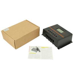 Кронштейн крыши онлайн-80A 12V 24V ЖК-дисплей Регулятор зарядки панели солнечных батарей с USB 5V + 4X Z кронштейн для крепления на плоской крыше Настенный алюминиевый комплект