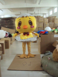 Wholesale Custom Chicken Costume - 2018 High quality hot little yellow chicken Plush Cartoon Character Costume mascot Custom Products customized Wholesale FREE SHIPPING